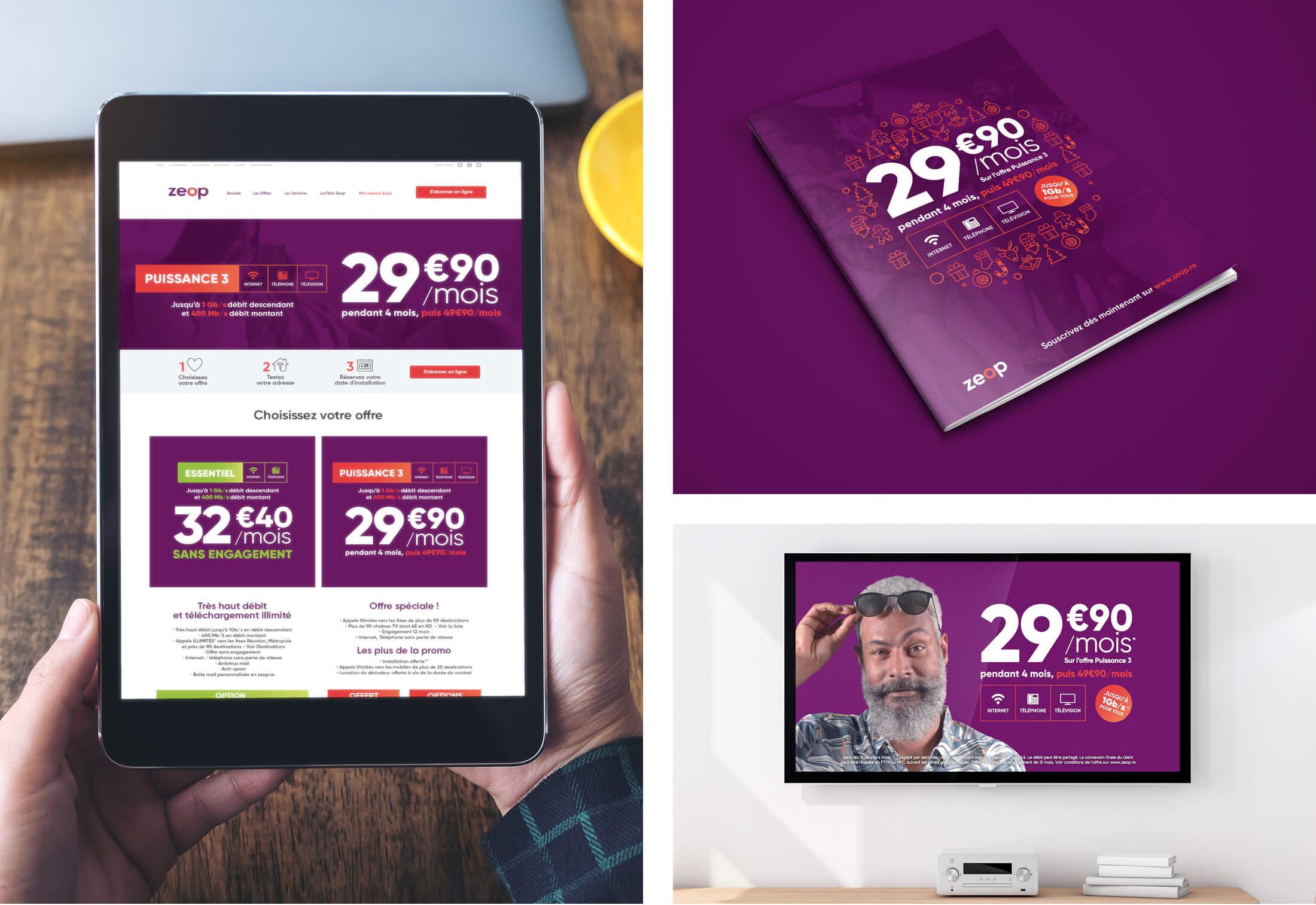 Webdesign et identité visuelle pour Zeop - Agence de com Zoorit