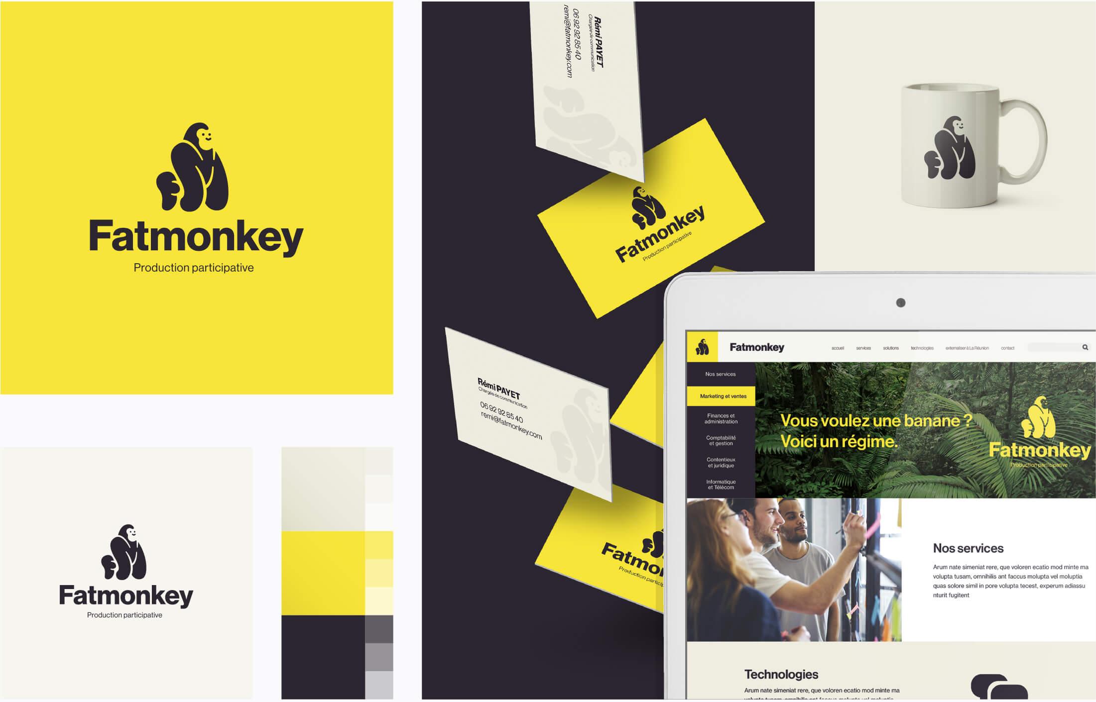 Outils corporate, digital et direction artistique Fat Monkey