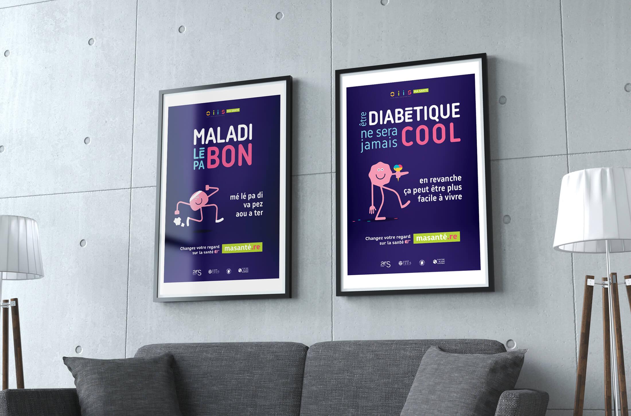 Affiches campagne de communication santé - La Réunion